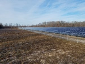 Solar array in a field in Parma, NY
