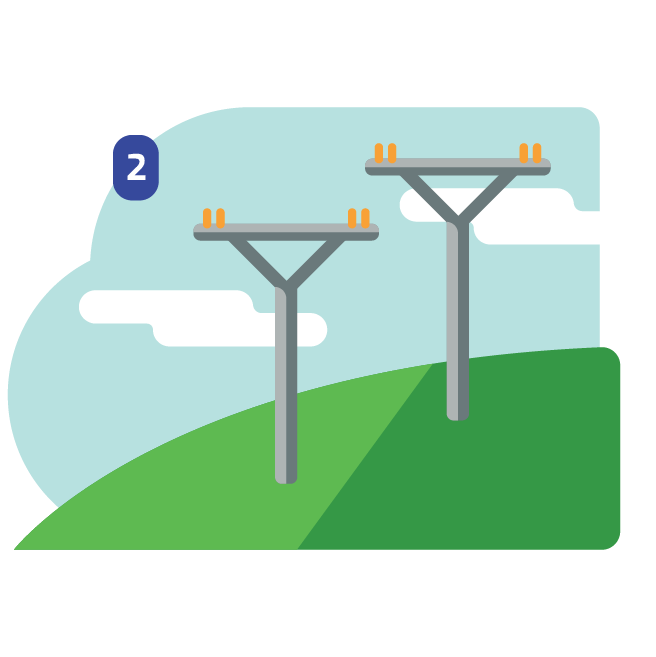 electric grid icon