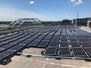 turner engineering and woodbury place lofts solar array